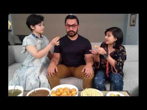 Geetha Babita Teasing Aamir Khan in Dangal Training Set | Zaira Wasim Birthday Party