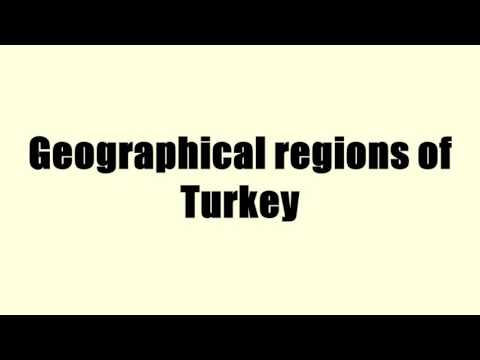 Geographical regions of Turkey