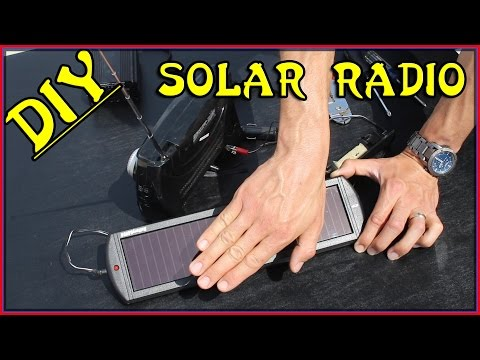 EASIEST DIY SOLAR POWERED RADIO! DIY Solar Project - Homemade Off Grid Solar-Powered | Sensei Ryan