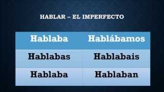 the imperfect in spanish how to form ar er and ir verbs