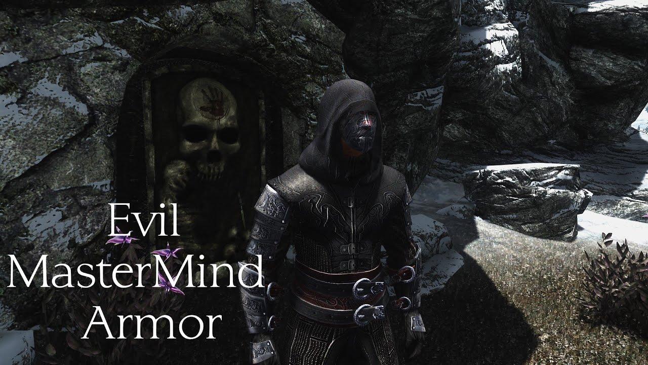 Skyrim Armor Mod Evil Mastermind Armor Youtube