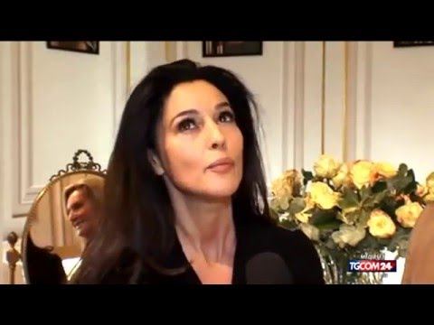 Monica Bellucci interview during a visit to the store Dolce & Gabbana in Milan in 2013