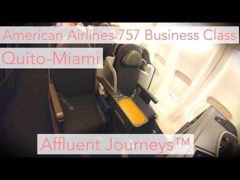 American Airlines Business Class Quito-Miami 757
