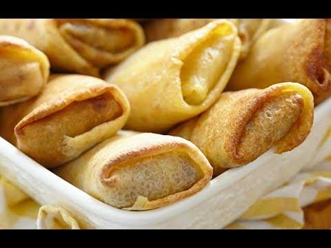 БЛИНЧИКИ С Сырной НАЧИНКОЙ. очень вкуный  и простой рецепт