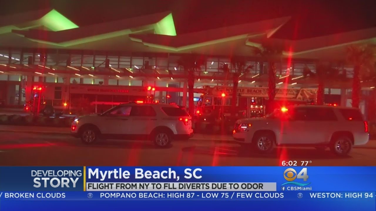 Spirit Airlines flight to Fort Lauderdale diverted to South Carolina due to 'odor'