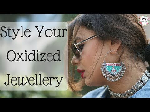 how to Style Oxidized Jewellery || Silver Jewellery in trend