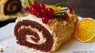 ПРОСТОЙ Шоколадный Рулет НУТЕЛЛА На вкус лучше Торта