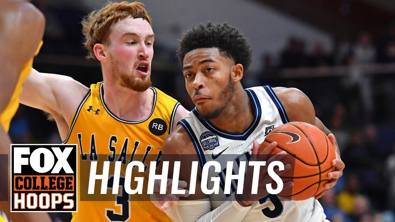 Moore puts in 25 off the bench, leads Villanova over La Salle, 83-72  HIGHLIGHTS