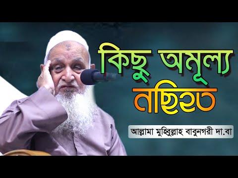 কিছু অমূল্য নছিহত    আল্লামা মুহিব্বুল্লাহ বাবুনগরী     Sumaiya TV