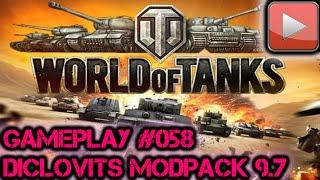 WoT Diclovit's Mod pack 9.7 | Lets Play World of Tanks Gameplay Deutsch / German #058 HD