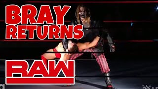 BRAY WYATT RETURNS TO RAW! THE FIEND DEBUTS!