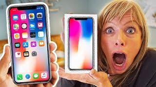 NEW IPHONE X SURPRISE ON MOM!! (World's First iPhone X PRANK)