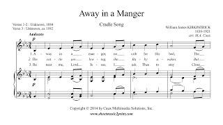Kirkpatrick : Away in a Manger - Mezzo-soprano or Baritone