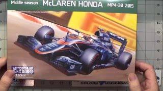 McLaren Honda MP4-30 Ebbro Scale model kit build up video Part1.