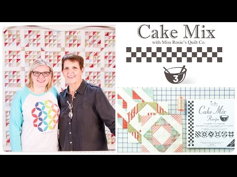 Cake Mix Recipe #3: Triangle Paper for Layer Cakes by Miss Rosie's Quilt Co. of Moda Fabrics: