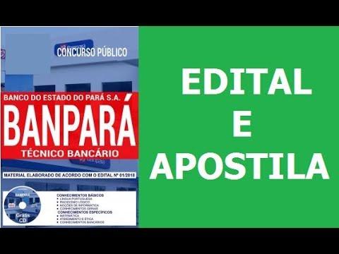 25cf863e7 Edital do Concurso BANPARÁ 2018: Apostila para Técnico Bancário ...