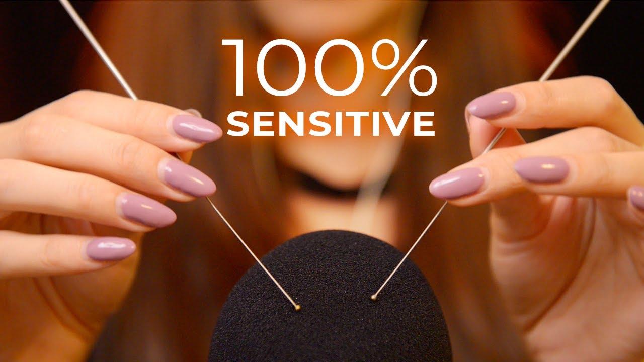 ASMR Close-up Triggers at 100% Sensitivity (No Talking)