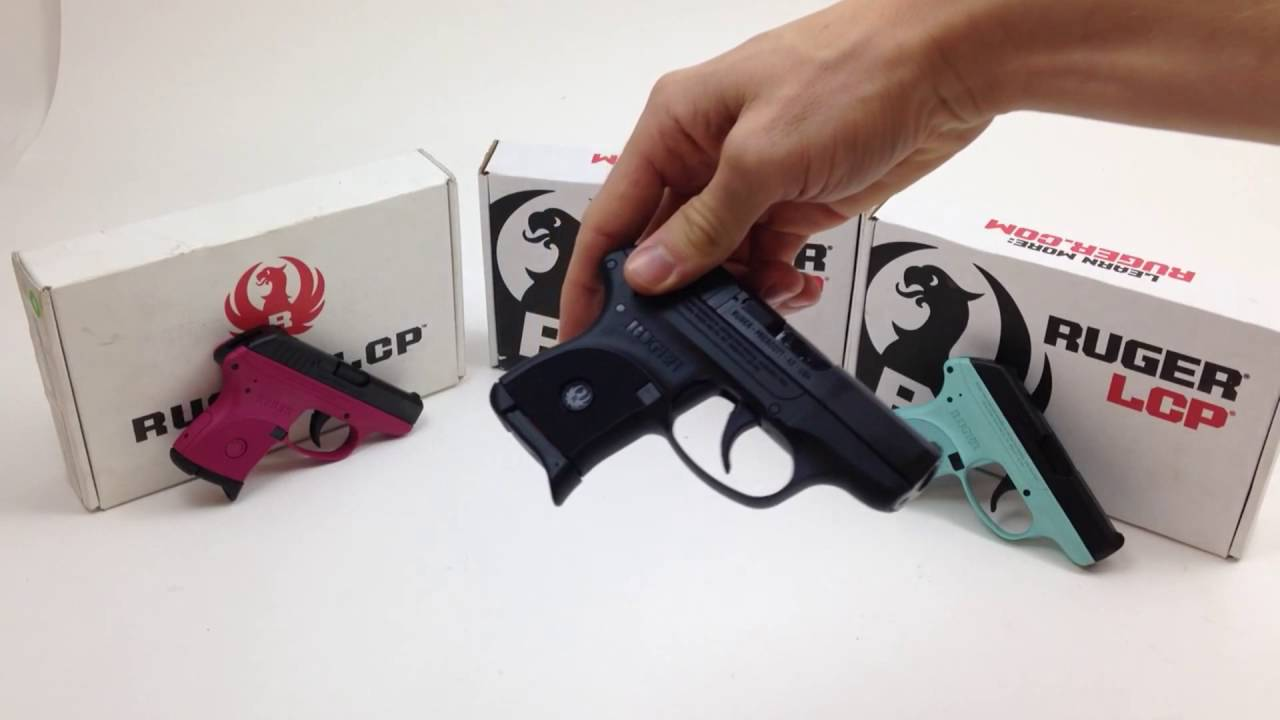 Ruger Lcp 380 Pistol Color Comparison Raspberry Black Turquoise