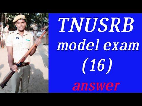 TNUSRB, PC ,SI , model exam (16) answer