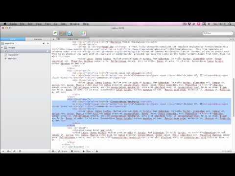 HTML & CSS: Templates Herunterladen Und Bearbeiten