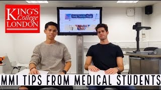 TOP MEDICINE MMI TIPS FROM KING'S MEDICAL STUDENTS | With KharmaMedic!