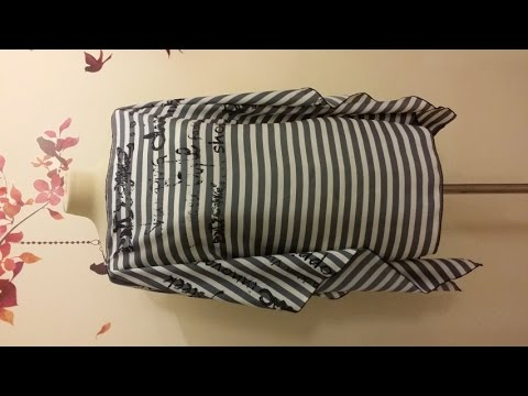 Una tunica con due rettangoli di stoffa da cucire in 10 minuti - SITAM