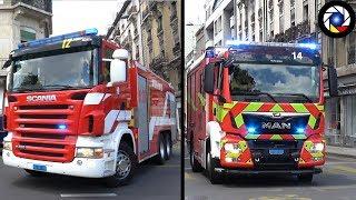 Pompiers Genève Départ Incendie // Geneva Fire Dept. responding