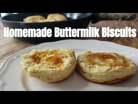Homemade Buttermilk Biscuits Recipe in Cast Iron