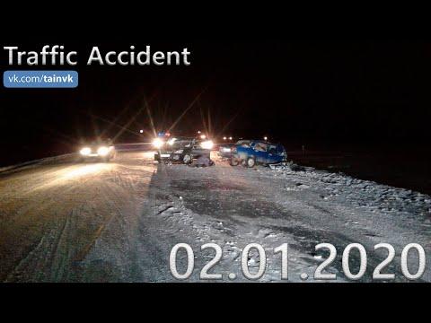 Подборка аварии ДТП на видеорегистратор за 02.01.2020 год