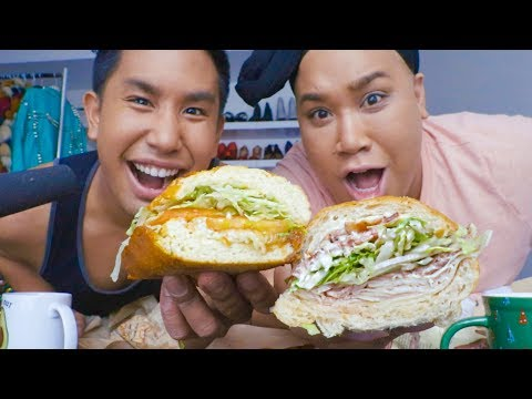 MIKE'S SUBS vs IKE'S SANDWHICHES WITH PATRICKSTARRR | MUKBANG MONDAY HEYITSPETER thumbnail