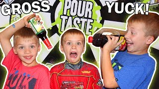 Pour Taste Challenge - Gross Food Game || Family Game Night