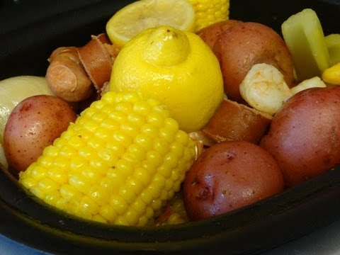 Low Country Boil in crockpot