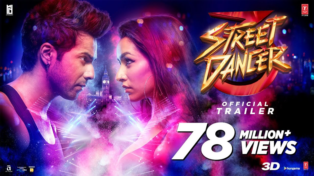 Street Dancer 3D (Trailer) Varun D, Shraddha K,Prabhudeva, Nora F | Remo D | Bhushan K|24th Jan 2020