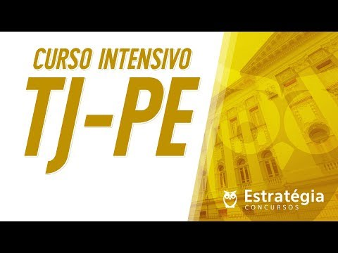 Curso Intensivo - TJ-PE - Português   Ao vivo