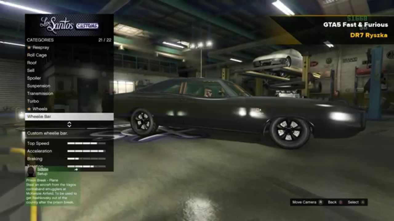 Gta 5 Fast And Furious Dominic Toretto S 1970 Dodge