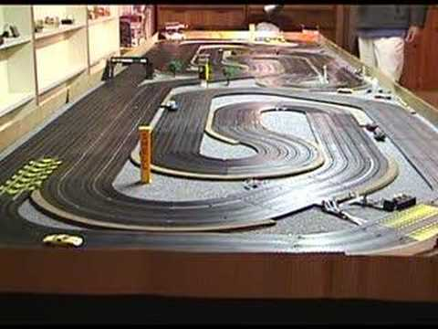 Thunderjet slot car racing at thunder road vintage crash for House of tracks
