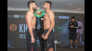 WEIGH IN!!!!!! AMIR KHAN WEIGHS IN AGAINST BILLY DIB 146 4