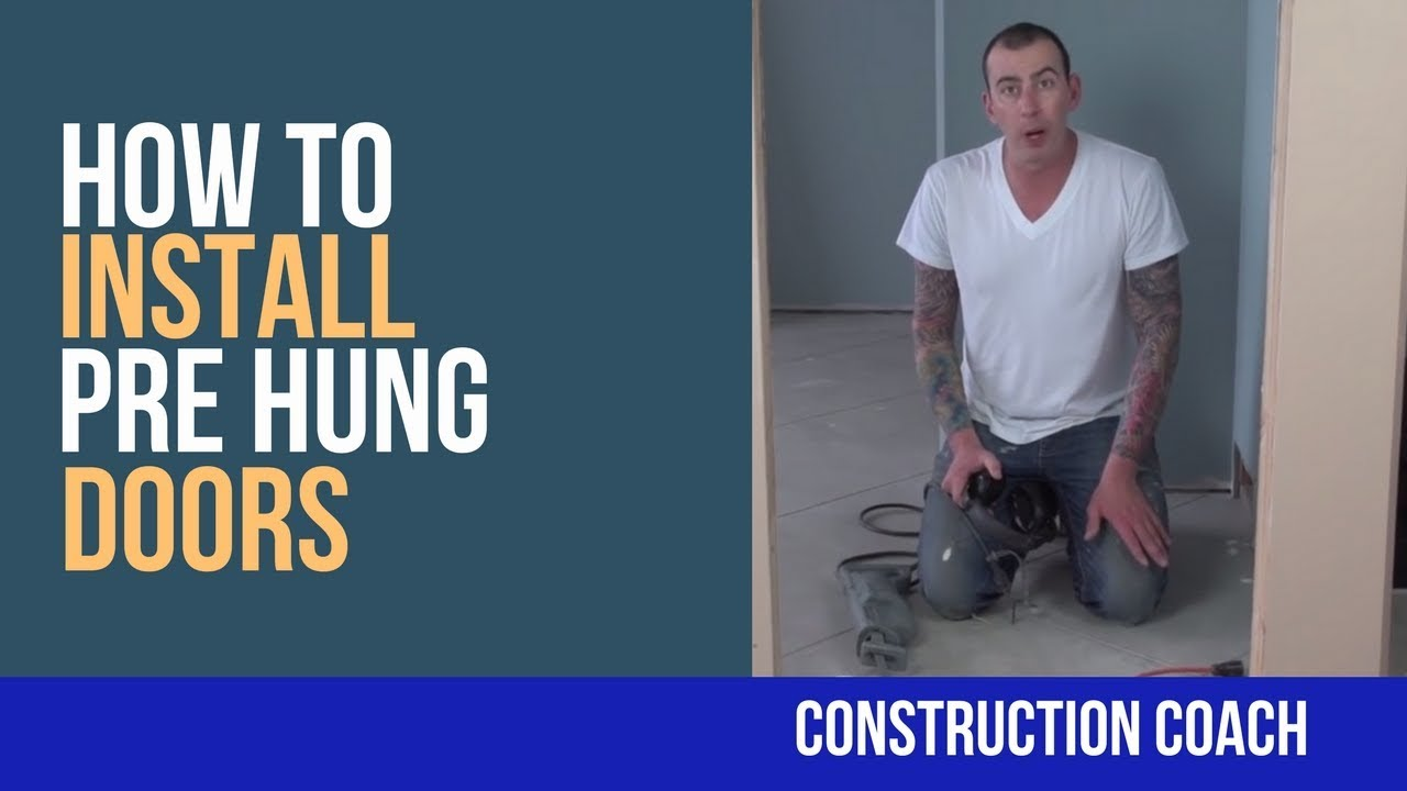 How To Install Pre Hung Doors Diy Youtube