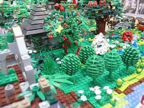 Lego Landschaft Tal der Blumen gestaltet von Mario Steidle war zu sehen auf der LWF2013  YouTube