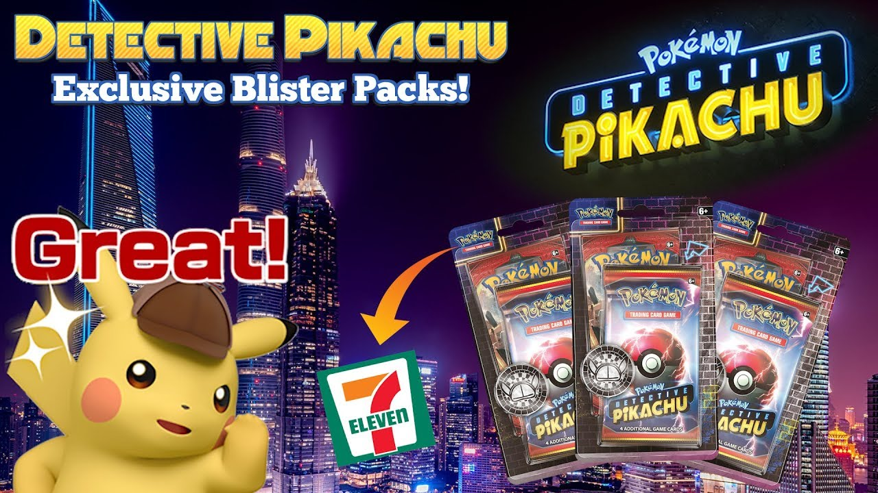 7 11 Exclusive Detective Pikachu Blister Packs Pokemon Tcg