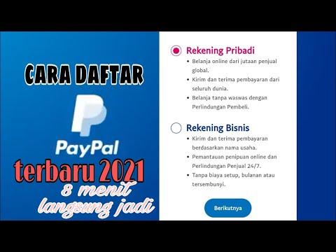CARA DAFTAR PAYPAL 2021 DENGAN MUDAH DAN CEPAT