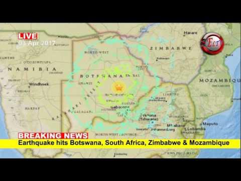 Earthquake hits Botswana, South Africa, Zimbabwe, Mozambique
