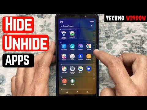 How To Hide And Unhide Apps On Samsung Galaxy A7 (2018)