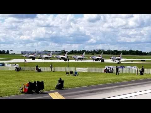 Thunderbirds Dayton Air Show 2017 Performance