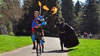 Ukulele batman vs bagpipe superman - theme song battle