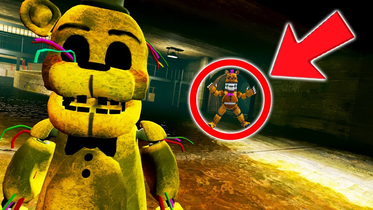 Baby Live Wallpaper Hd Golden Freddy Caught A Scary Underground Monster Gta 5