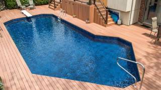 composite decking with wood grain