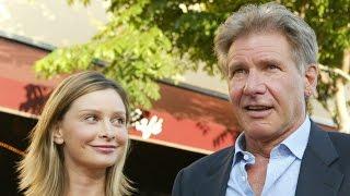 Calista Flockhart and her husband Harrison Ford