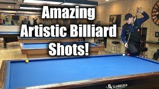 Amazing Artistic Billiard Shots!!!