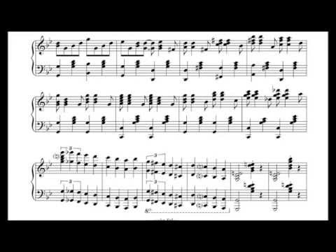 Korobeiniki (Tetris A Theme) as improvised by Tom Brier, sheet music